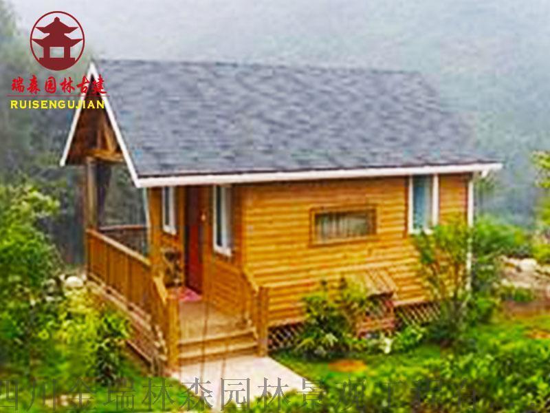雲南木屋廠家仿古實木木屋,防腐木屋設計加工
