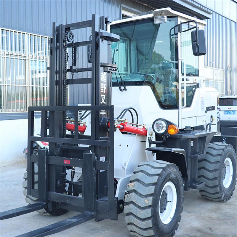 5吨越野叉车 多用途3.5吨四驱越野叉车