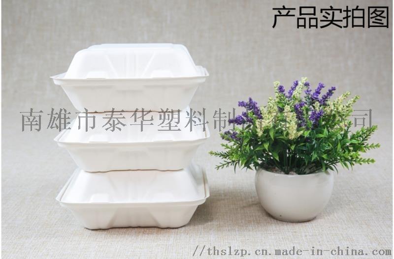 甘蔗浆A8寸3格一次性环保餐盒