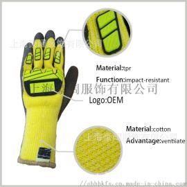 防撞机械手套 防水防油作业手套 机械工作手套