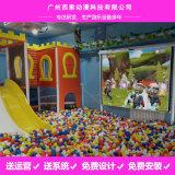 大型海洋球池遊樂園互動投影砸球設備室內電玩互動牆面投球廠家