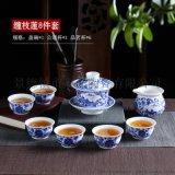 景德鎮陶瓷青花茶具 8人功夫茶具瓷器壺