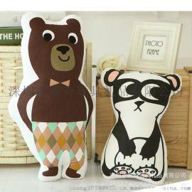 熱銷爆款卡通小熊異形抱枕 創意辦公室沙發靠墊定制