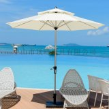 [頂峯]佛山庭院傘合理_沙灘桌椅帶傘花園摺疊中柱傘