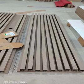 拉丝背景墙铝合金长城板 外墙凹凸铝单板灰色效果厂家
