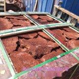 供應火山石板 紅色火山石板材  紅色火山石牆磚