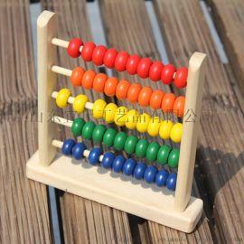 制小五格串珠 儿童早教木质益智玩具