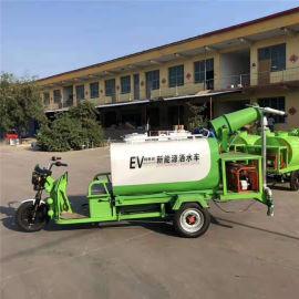 1.5方电动工程洒水车,喷雾降尘四合一新能源洒水车