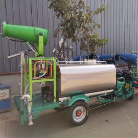 2吨柴油雾炮三轮洒水车, 发电机雾炮洒水车