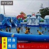 大型水上樂園設備廠家兒童動漫水世界充氣闖關衝關遊泳池戶外玩具