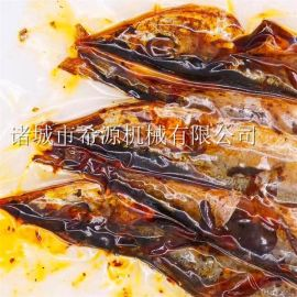 希源炸鱼流水线设备 小黄鱼上浆上粉油炸生产线