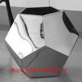 豪华不锈钢花钵矩形厂家玫瑰金不锈钢创意花盆