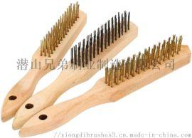 钢丝纯铜磨料丝尼龙刷子定做除锈打磨抛光清洁刷