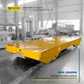 金华搬运铸件过跨地轨车 电缆轨道平板运输电动小车