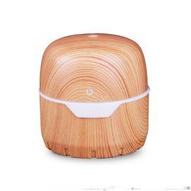 300ml浅木纹宝盒礼品静音usb加湿器
