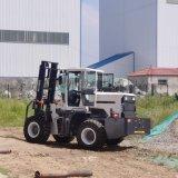 3吨四驱叉车 工程工地越野叉车 沃特机械