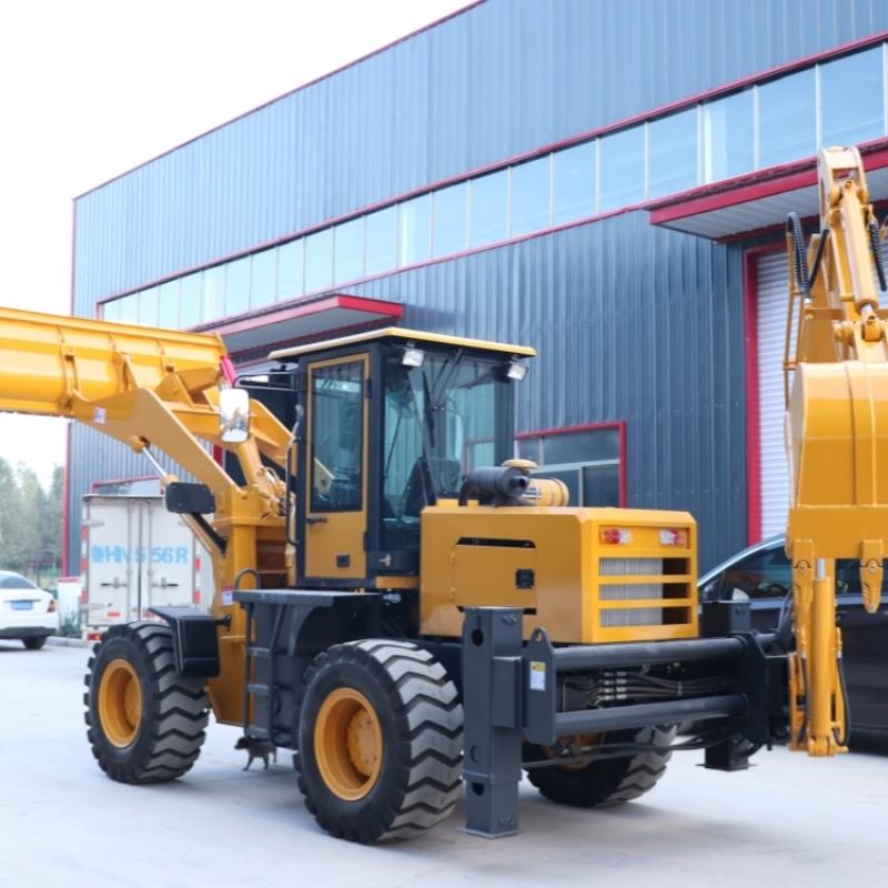 厂家多功能小铲车 四轮叉木机装载机 液压两头忙
