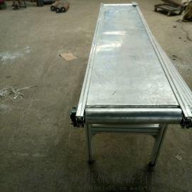 铝型材输送带 铝材爬坡输送机 六九重工 铝合金带式