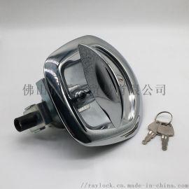 锌合金镀铬大壳锁汽车工具箱面板锁鱼尾机货柜车锁