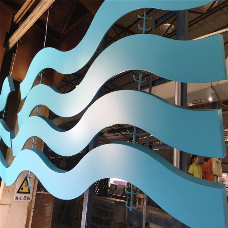金属铝板材厂家定制幕墙室内弧形铝方通天花吊顶铝方通