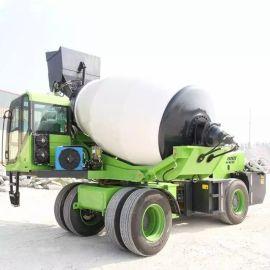 旋转式上料混凝土搅拌车 小型混凝土自动上料搅拌车