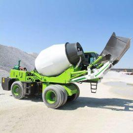 沃特混凝土攪拌運輸車 自动上料水泥攪拌車