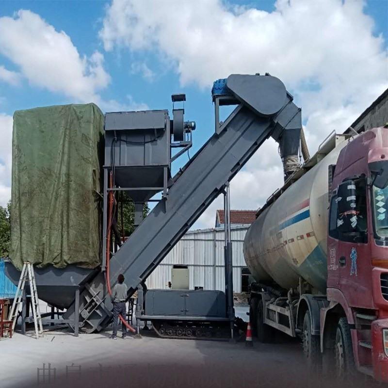 環保無揚塵集裝箱散灰卸料機 貨站碼頭粉煤灰拆箱機