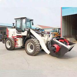 混凝土放料斗 多功能上料移动式1.2方水泥铲车搅拌机