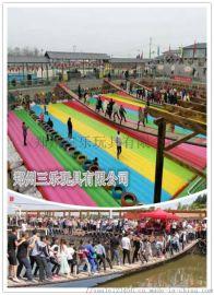 山东菏泽网红桥项目移动网红桥充气垫子