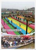 山東菏澤網紅橋項目移動網紅橋充氣墊子