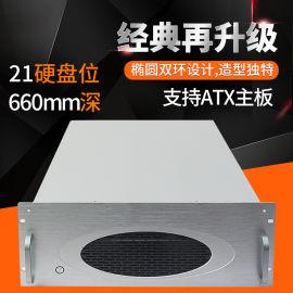 4U工控机箱21硬盘位存储服务器多硬盘位机箱