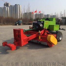 新疆畜牧饲料方块打捆机 自走式秸秆方捆机