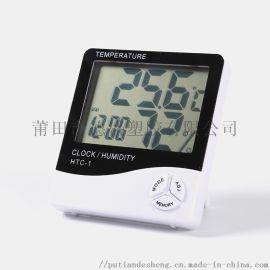数显温湿度计,带时间和闹钟温湿度计