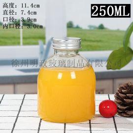 网红胖萌瓶饮料瓶果汁瓶奶茶瓶咖啡杯酵素密封瓶玻璃瓶