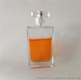 四方香水瓶,晶白料玻璃瓶,喷雾泵头