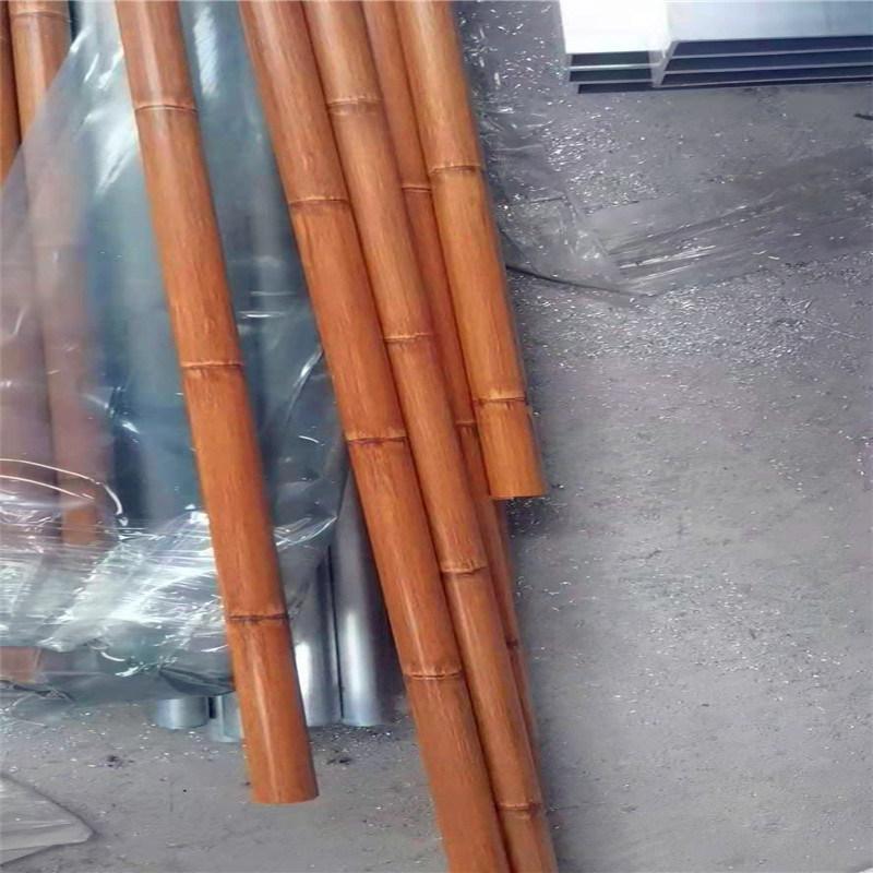 仿竹纹铝圆管透光图片 2.0竹纹铝圆管定制效果