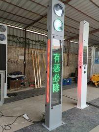 一体式广告人行信号灯 立柱式交通信号灯