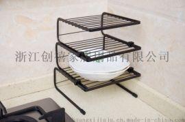 家用三层碗碟沥水架厨房台面置物架洗放碗筷盘子收纳盒