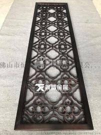 纳米喷涂红古铜铝板镂空屏风 表面处理很重要
