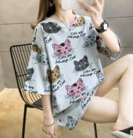 T恤女短袖2020新款夏装中长款韩版宽松大码欧货潮上衣服半袖体恤