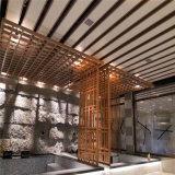 国际机场吊顶铝方管 木纹仿古铝方管艺术元素