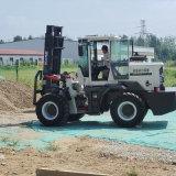 貨物搬運車 倉庫液壓升高車 5T內燃式越野叉車