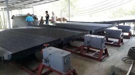 砂金选矿 6S大槽钢摇床 整套 玻璃钢 生产厂家