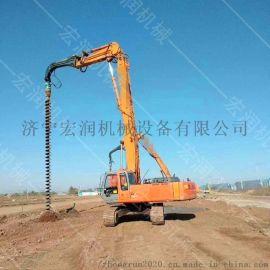 长螺旋钻孔打桩机 挖坑旋挖钻螺旋钻机
