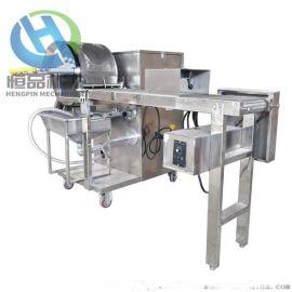 电加热面皮机  连续式春卷皮设备 全自动烤鸭饼机