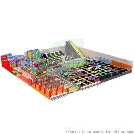 淘气堡定制大型室内商场儿童蹦床组合游乐蹦床公园厂家