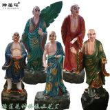 十八罗汉神像 玻璃钢彩绘 达摩祖师 三宝佛佛像