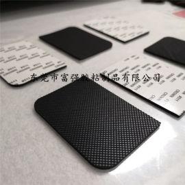 格纹硅橡胶垫 防滑减震橡胶垫 方形黑色橡胶垫片