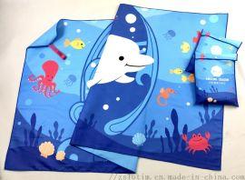 厂家直供速干双面绒数码印花沙滩巾