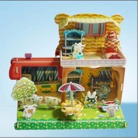 10元模式地摊赶集热卖3D拼图儿童益智玩具批发